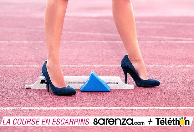 courseescarpinssarenzatelethon Sarenza court pour le Téléthon