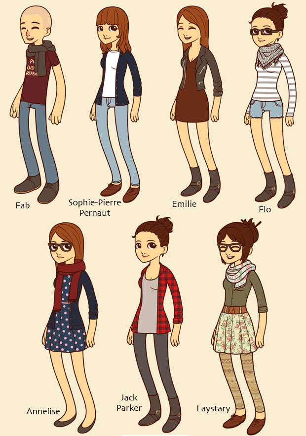 Hipster dress up cr e ton avatar hipster - Cree ton avatar et decore ton apparte ...