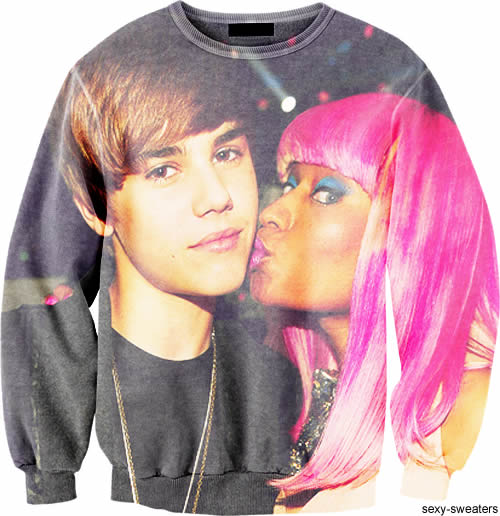 sweat justin bieber nicki minaj Sexy Sweaters, le Tumblr de la semaine