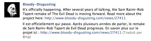 evildead Traducteurs automatiques : Bing sur Facebook vs. Google