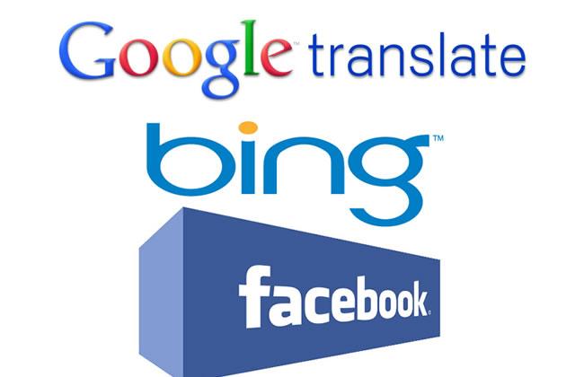 Traducteurs automatiques : Bing sur Facebook vs. Google