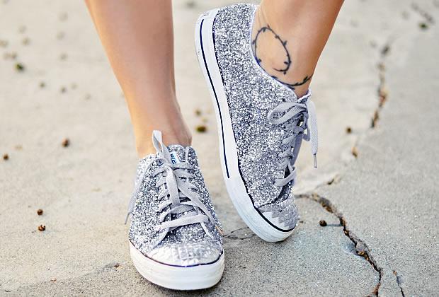 Sélection de tutos : chaussures à paillettes tutochaussurespaillettes6