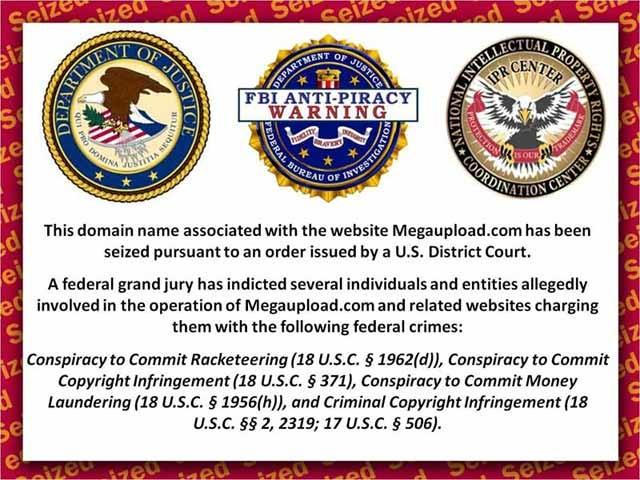 banner Megaupload fermé par le FBI, Anonymous réplique