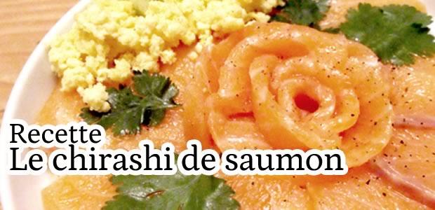 Recette – Le chirashi de saumon
