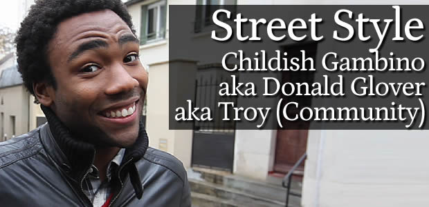 Street Style – Childish Gambino (Troy dans Community)