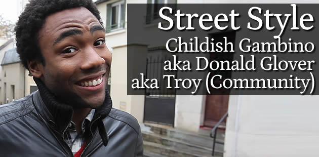 Street Style – Childish Gambino (Troy dans Community)
