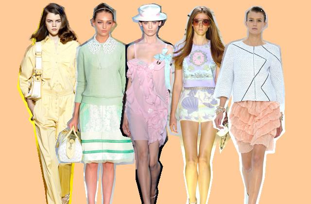 Le look pastel : tendance Printemps Été 2012