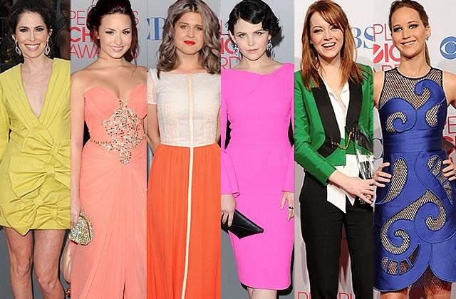 Les robes des People's Choice Awards affichent la couleur