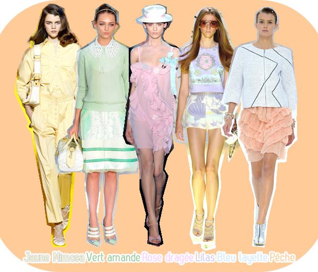 Le look pastel : tendance Printemps Été 2012 tendancepastel1