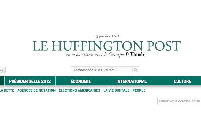 La version française du Huffington Post a été lancée ce matin