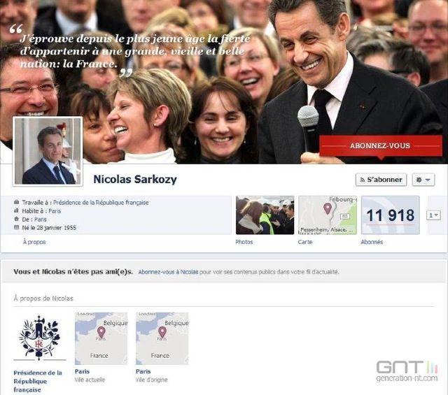 Lavraietimeline.fr, site parodique de la page Facebook de Sarkozy SarkozyTimeline