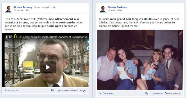 Lavraietimeline.fr, site parodique de la page Facebook de Sarkozy Timeline21
