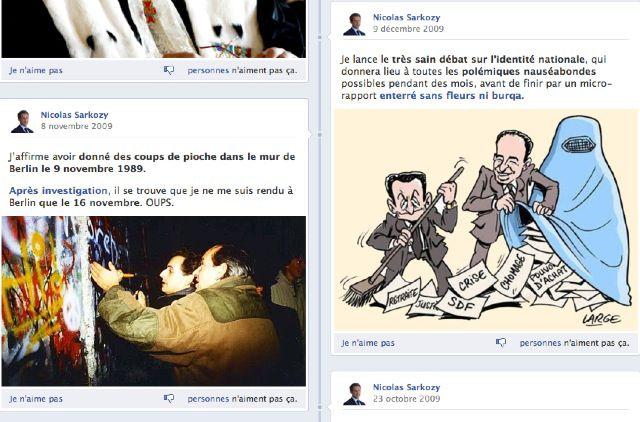 Lavraietimeline.fr, site parodique de la page Facebook de Sarkozy Timeline3