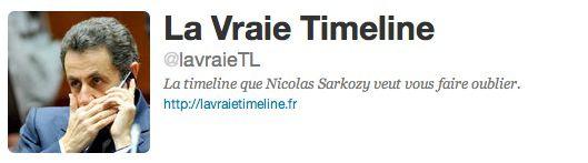Lavraietimeline.fr, site parodique de la page Facebook de Sarkozy TwitterTimeline