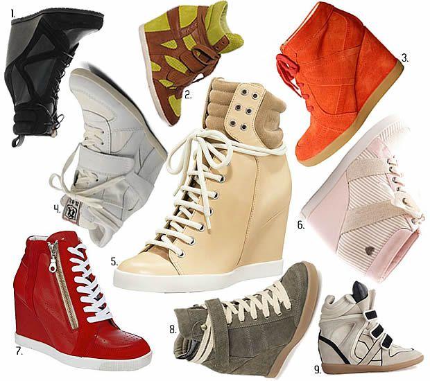 baskets compensées Débat et des Modes : les baskets compensées