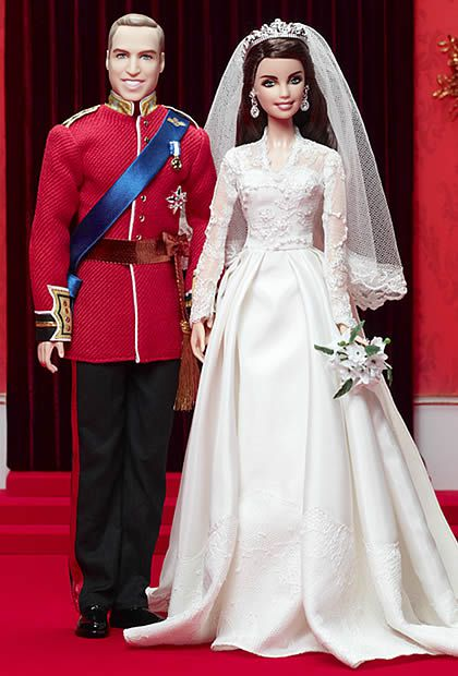 Des Barbies Kate Middleton et Prince William kate william barbie