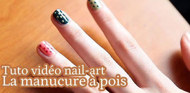 Tuto Nail-Art : la manucure à pois