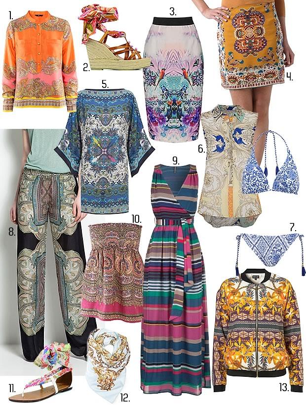 Comment porter limprimé foulard ? selection imprime foulard