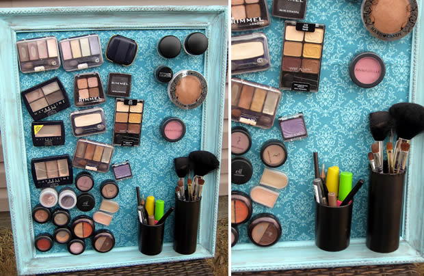 un tableau magn tique pour produits de maquillage. Black Bedroom Furniture Sets. Home Design Ideas