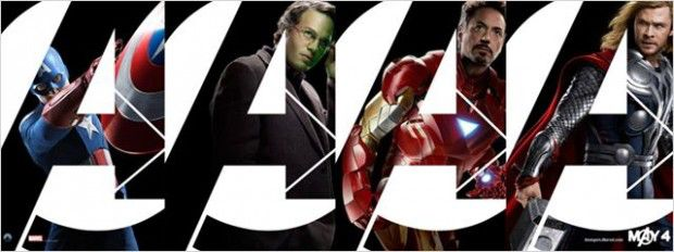Captain America, Hulk, Iron Man et Thor