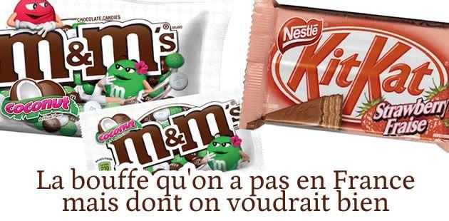 La bouffe qu'on a pas en France, mais dont on voudrait bien (comme les M&Ms beurre de cacahuète)