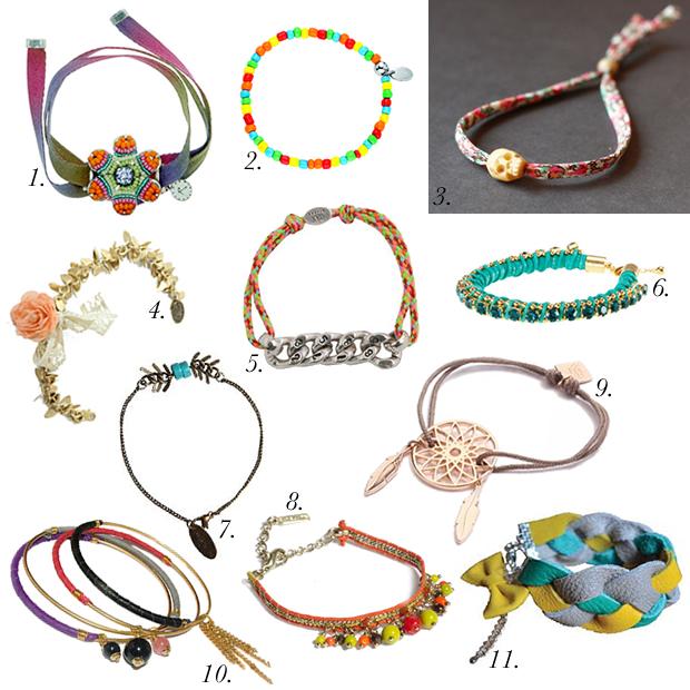 Sélection de bracelets porte bonheur pour lété selection bracelets gri gri