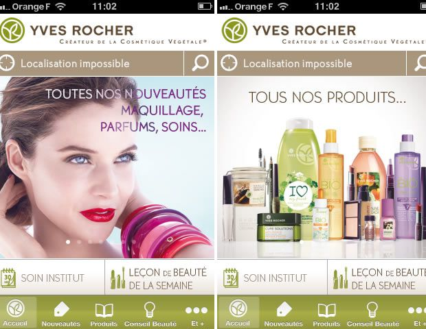 Yves Rocher lance une application iPhone appli1