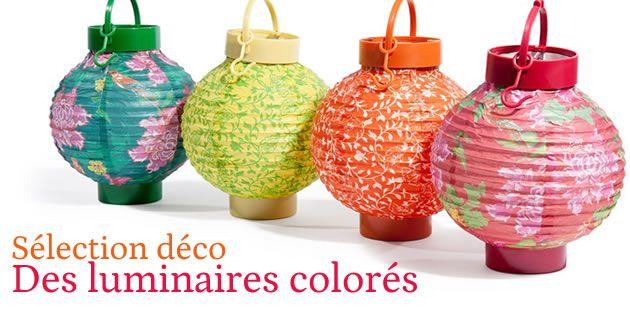Sélection déco spéciale «luminaires colorés»