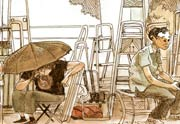 Bulles de Cannes, la Croisette croquée par Boulet et Erwann Surcouf