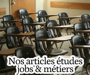 études jobs métiers