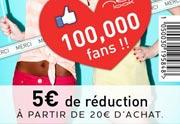 Lien permanent vers 5€ de réduction à partir de 20€ d'achats chez New Look
