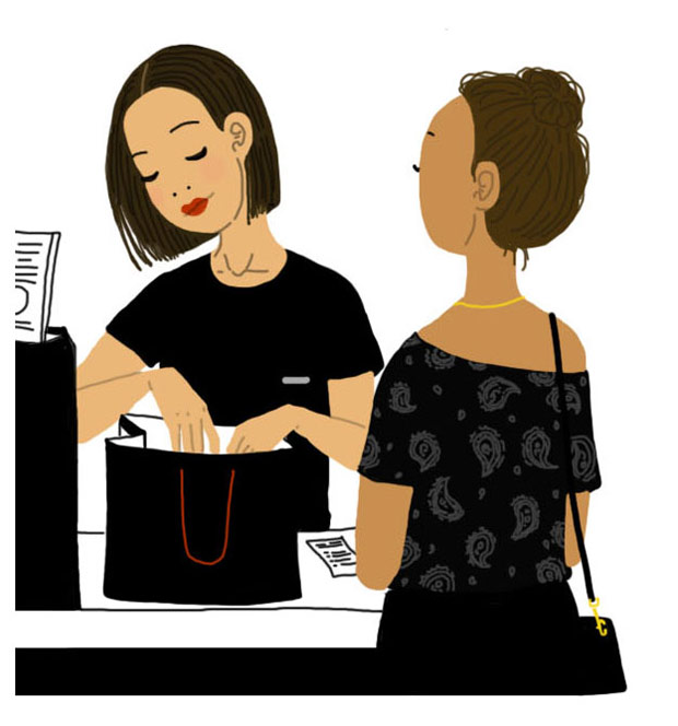 sanaa k vendeuses parfumerie sac