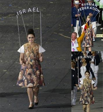 Les improbables de la mode des JO de Londres 2012 Femme tete