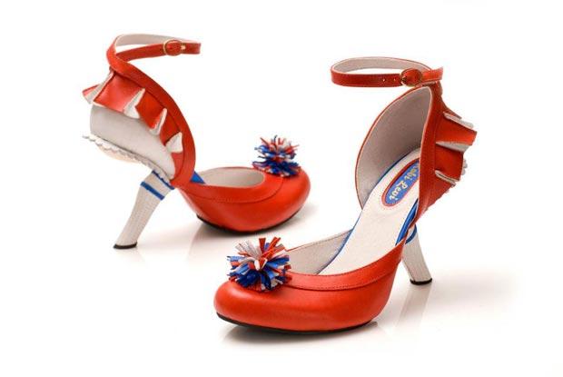 kobi levi red2 Les chaussures pom pom girl de Kobi Levi