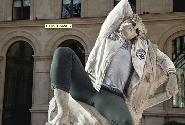 sculptures hipster louvre5 Un graphiste hipsterise les statues du Louvre
