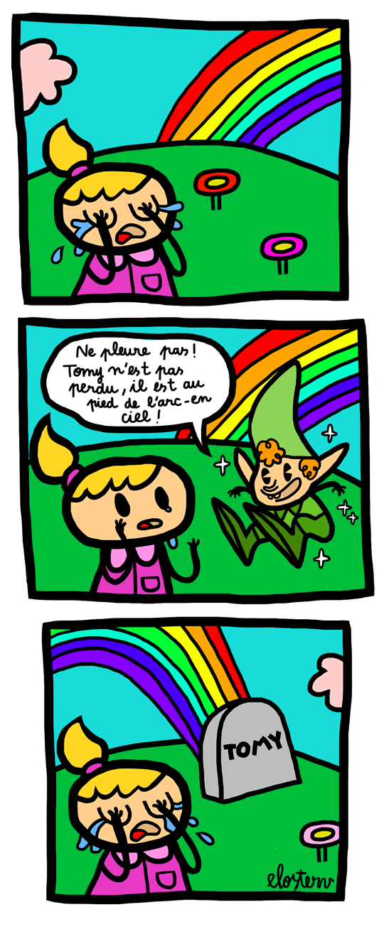 Le strip dElosterv   Over the rainbow strip elo1