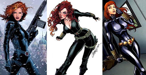 Typologie des tenues de super héroïnes  blackwidow