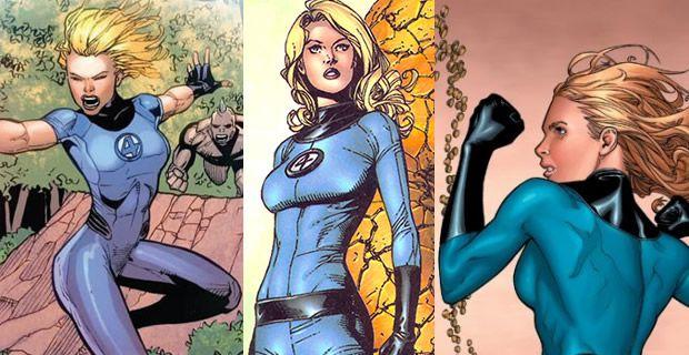 Typologie des tenues de super héroïnes  femme invisible