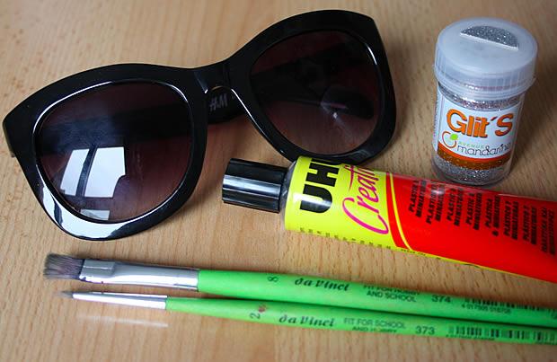 Tuto   Des lunettes à paillettes matoslunettes1