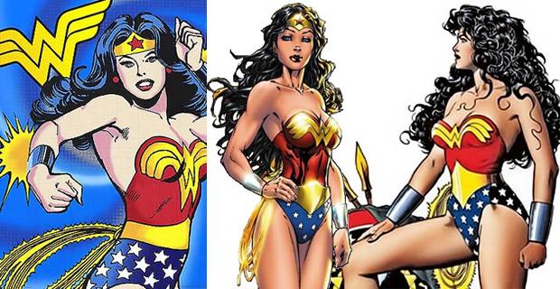 Typologie des tenues de super héroïnes  wonder woman