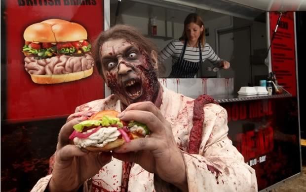 Un Food Truck zombie pour la sortie du DVD The Walking Dead zombie1