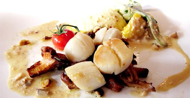 Noix de St Jacques Tous au restaurant 2012 : 1 menu acheté = 1 menu offert