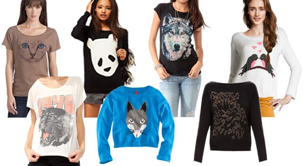 pull femme animaux