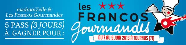 banner francos gourmandes Les Francos Gourmandes : le festival musical ET gastronomique !