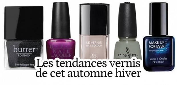 Tendances vernis automne/hiver 2012-2013