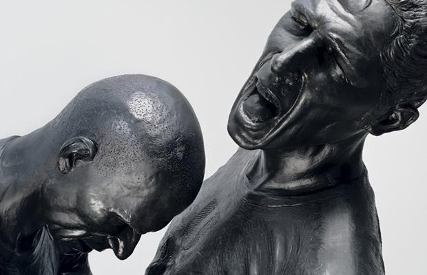 coupdeboule Une sculpture du coup de boule de Zidane à Beaubourg