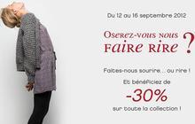 Naf Naf échange une histoire drôle contre 30% de réduction !