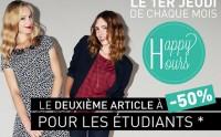 Happy Hours New Look : -50% pour les étudiants, lycéens et collégiens