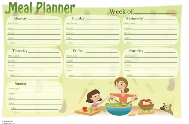 Planifier ses repas, une bonne idée ?