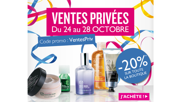 Ventes privées The Body Shop : cest parti !  Ventes Privees The Body Shop